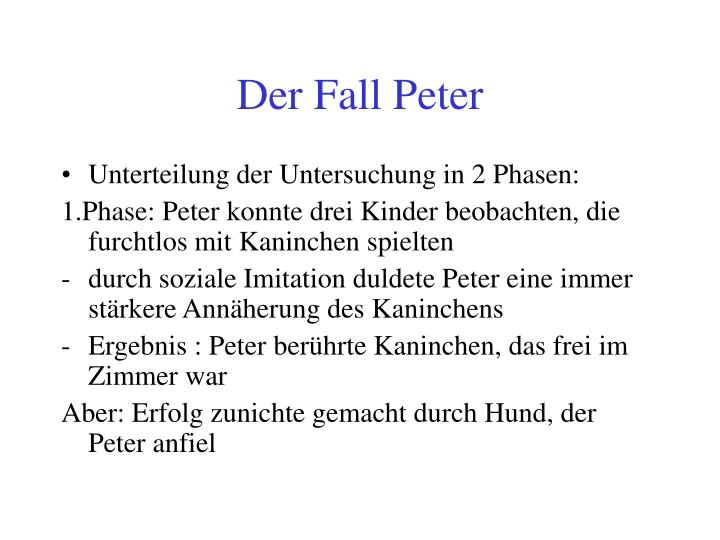 Der Fall Peter