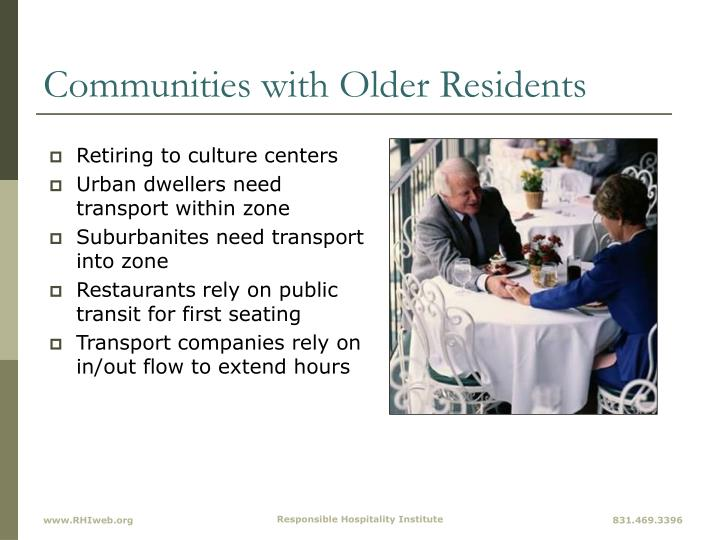 Communities with Older Residents