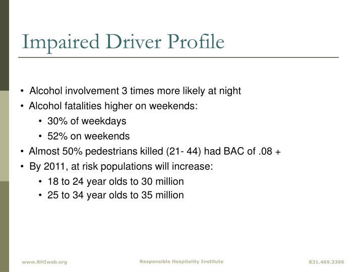 Impaired Driver Profile