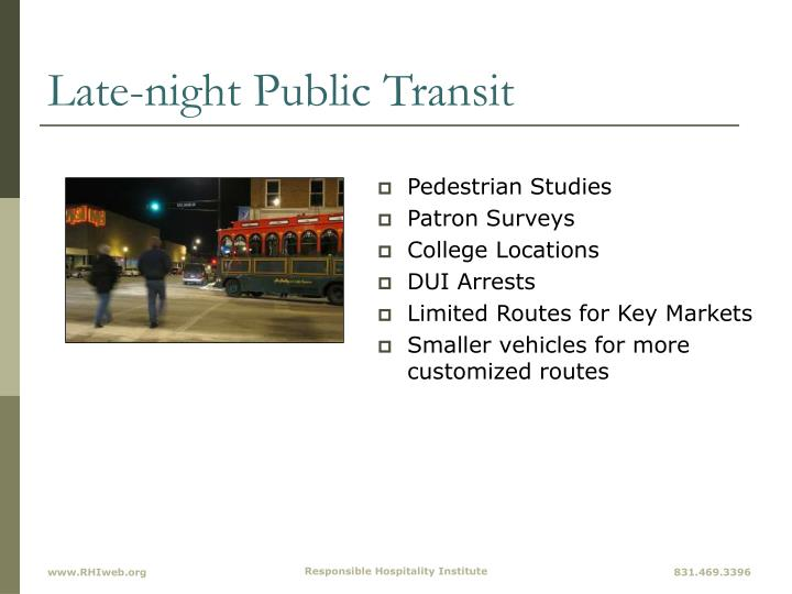 Late-night Public Transit