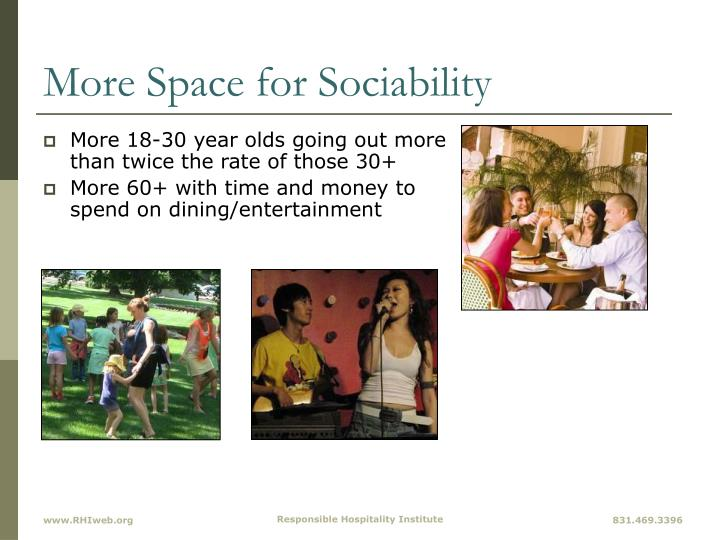 More Space for Sociability