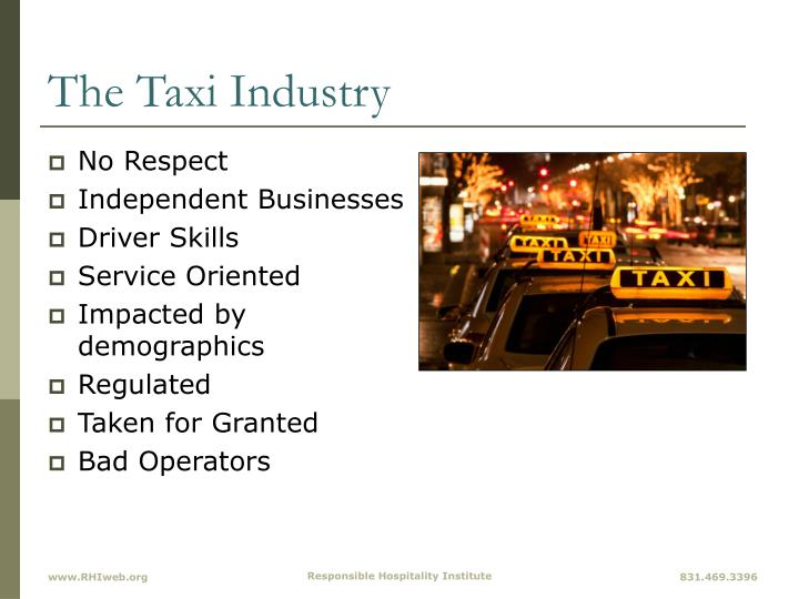 The Taxi Industry