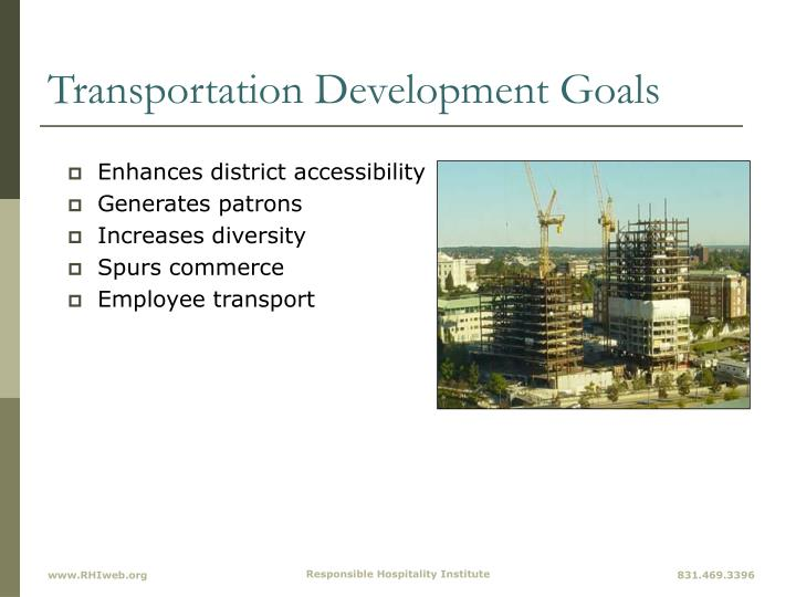 Transportation Development Goals