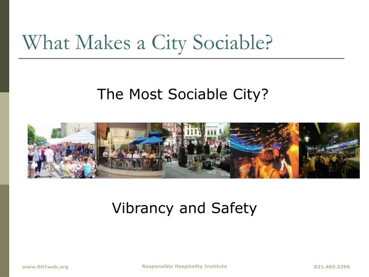 What Makes a City Sociable?