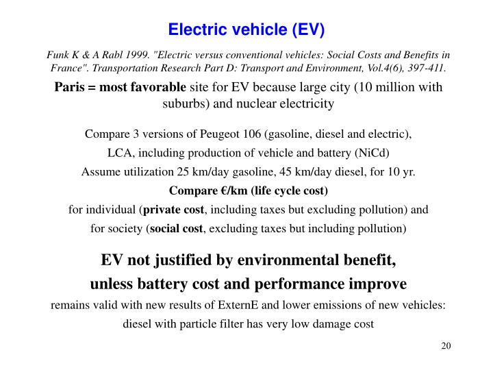 Electric vehicle (EV)