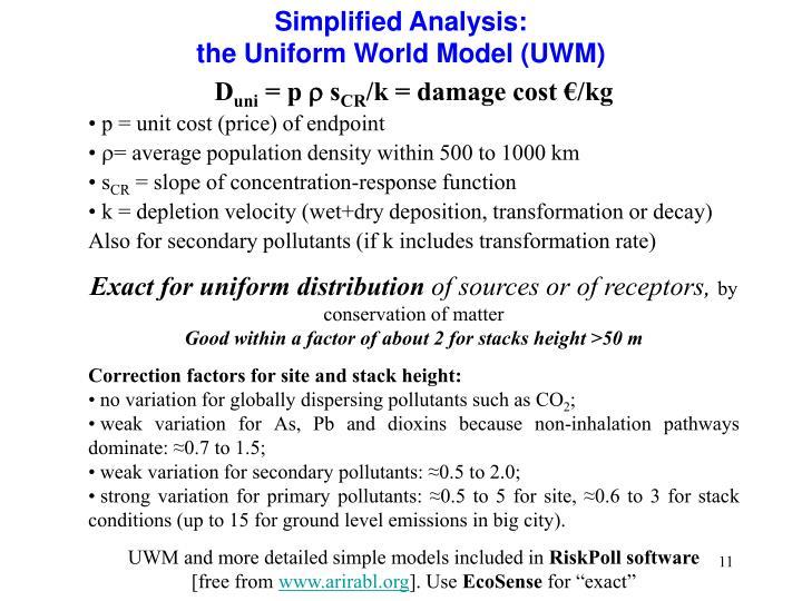 Simplified Analysis: