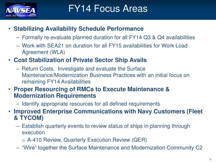 FY14 Focus Areas