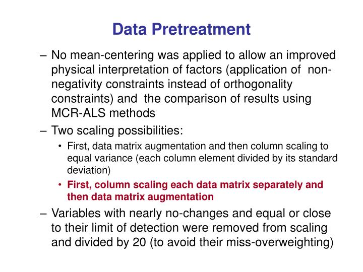 Data Pretreatment