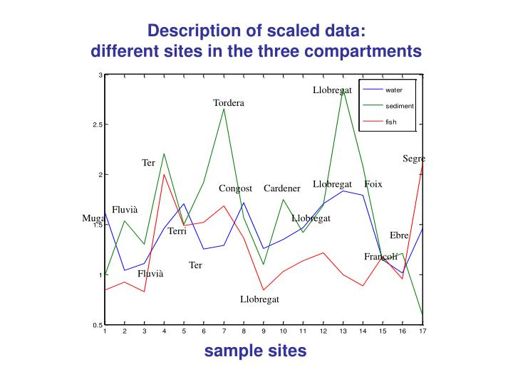 Description of scaled data: