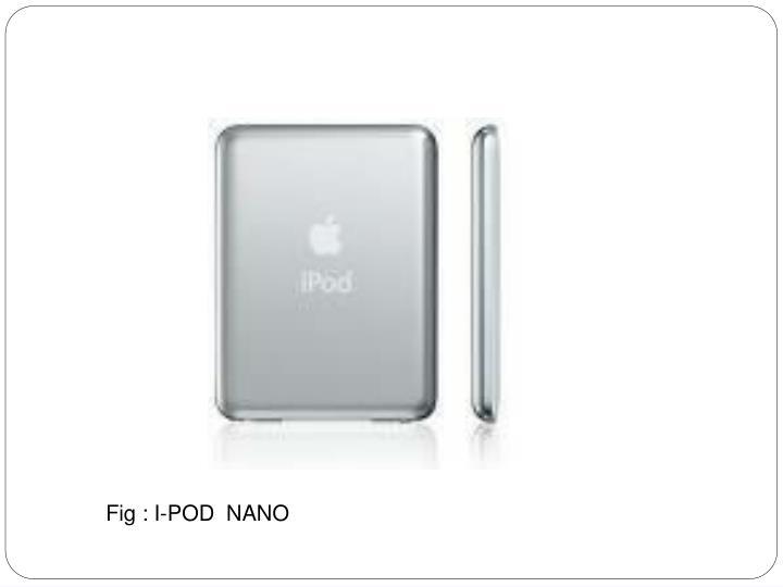 Fig : I-POD  NANO