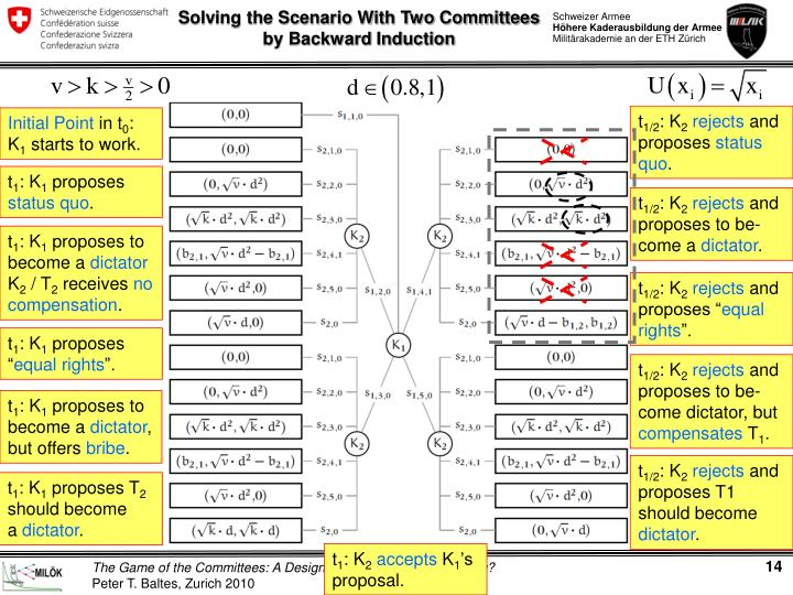 Solving the Scenario With Two Committees