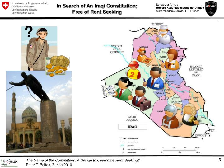 In Search of An Iraqi Constitution;