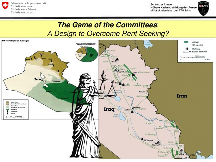 the game of the committees a design to overcome rent seeking