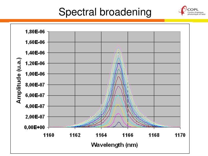 Spectral broadening