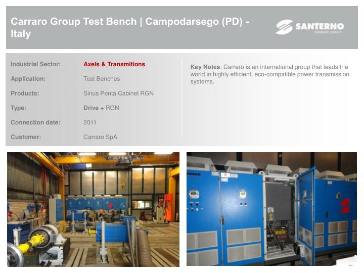 Carraro Group Test Bench | Campodarsego (PD) - Italy