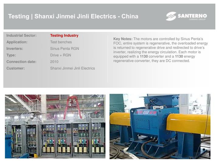 Testing | Shanxi Jinmei Jinli Electrics - China