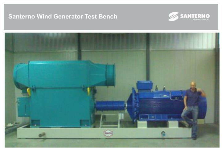 Santerno Wind Generator Test Bench