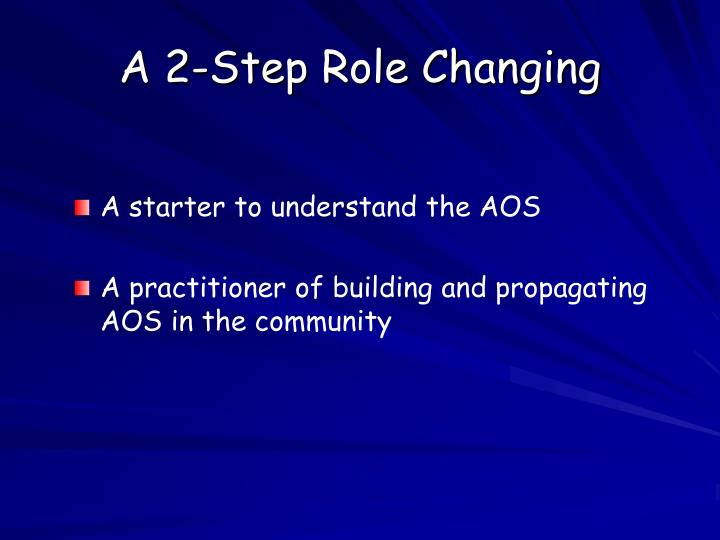 A 2-Step Role Changing