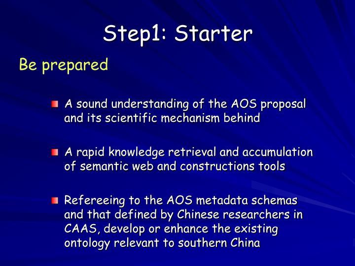 Step1: Starter