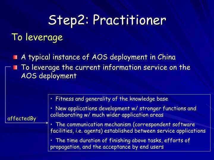 Step2: Practitioner