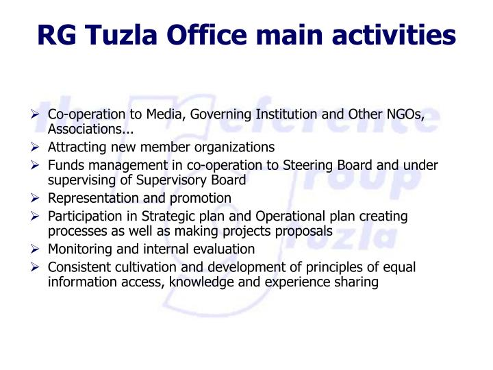 Co-operation to Media, Governing Institution and Other NGOs, Associations...
