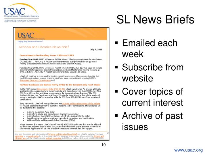 SL News Briefs
