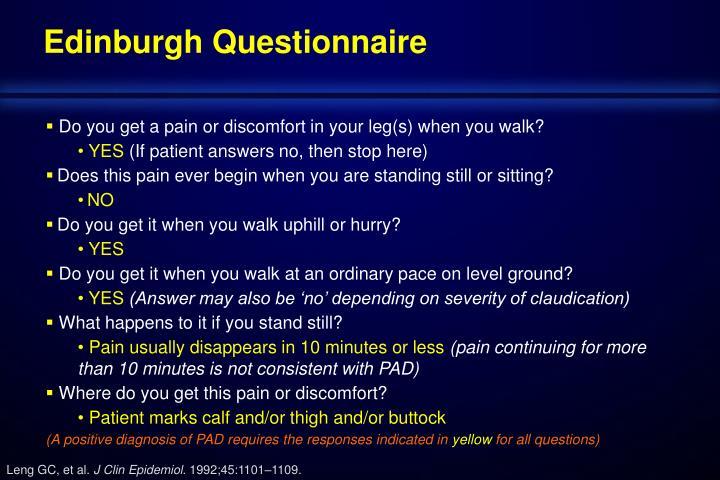 Edinburgh Questionnaire