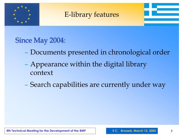 E-library features