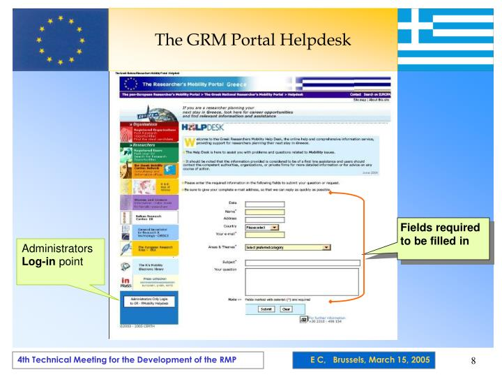 The GRM Portal Helpdesk