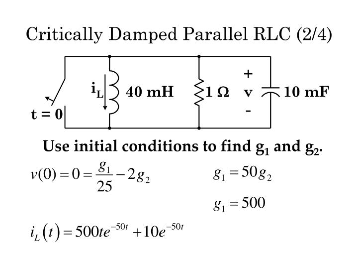 Critically Damped Parallel RLC (2/4)