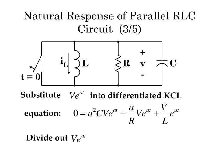 Natural Response of Parallel RLC  Circuit  (3/5)