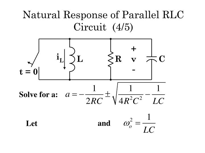 Natural Response of Parallel RLC  Circuit  (4/5)