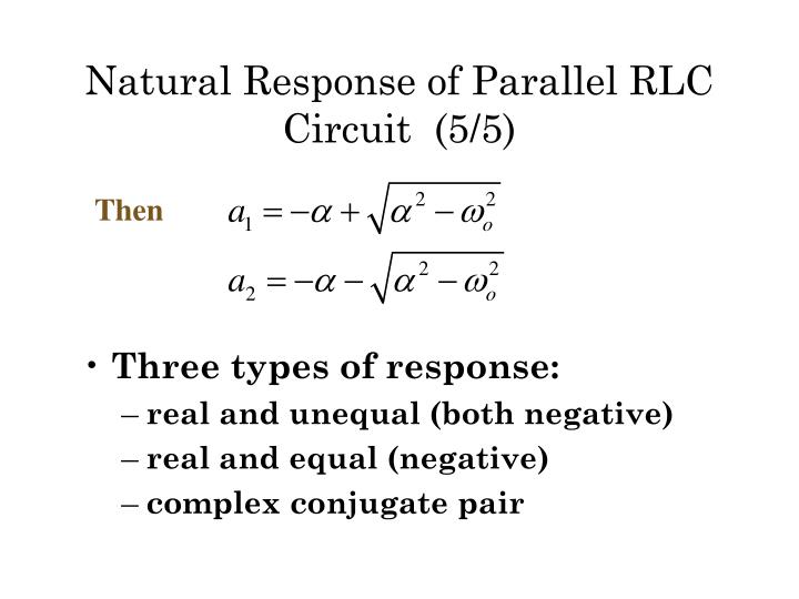 Natural Response of Parallel RLC  Circuit  (5/5)