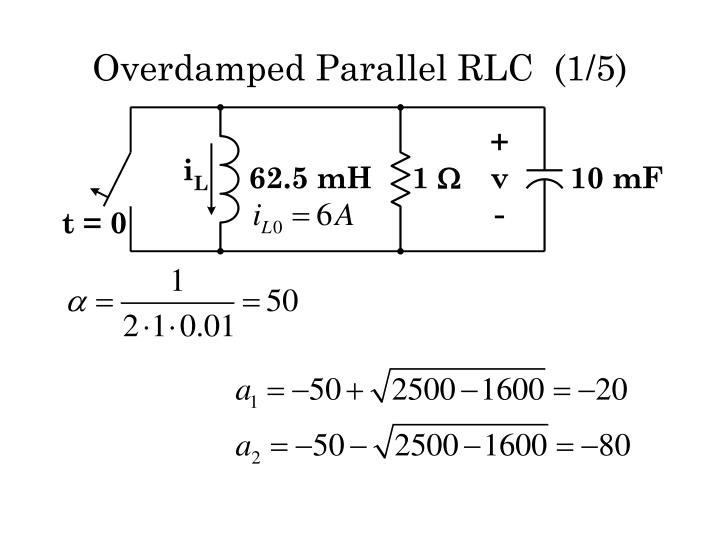 Overdamped Parallel RLC  (1/5)