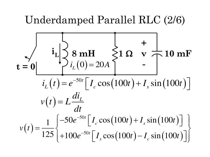 Underdamped Parallel RLC (2/6)
