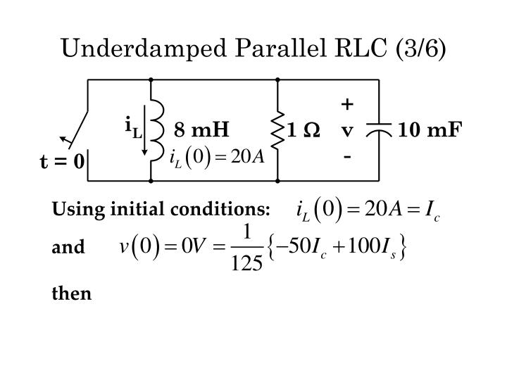 Underdamped Parallel RLC (3/6)