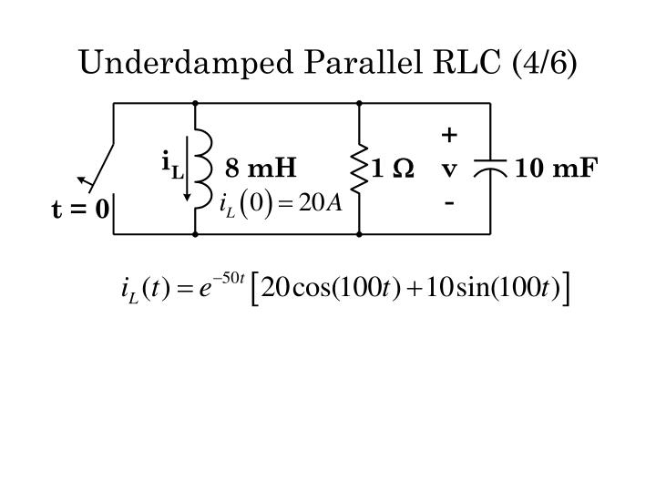 Underdamped Parallel RLC (4/6)