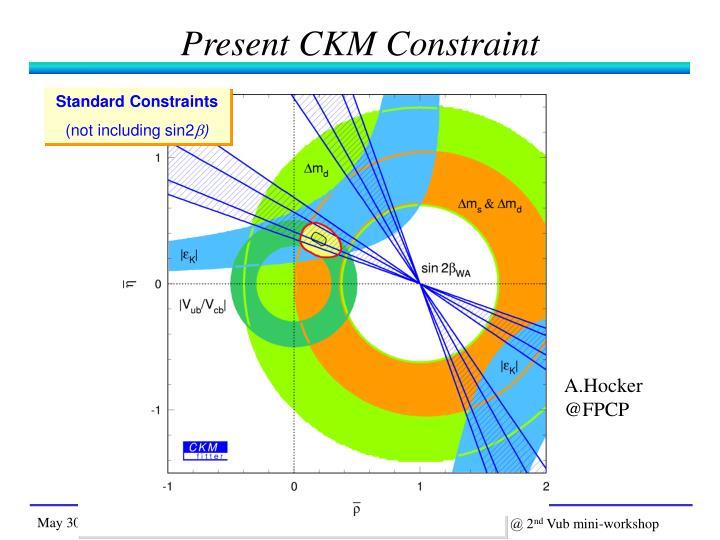 Present CKM Constraint