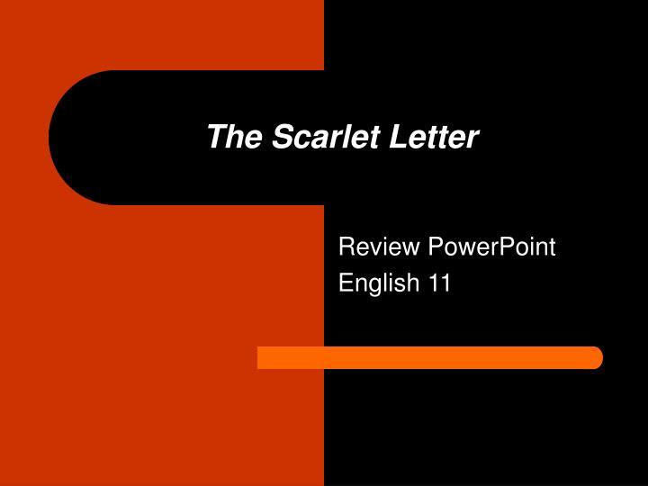 a reveiw of the scarlet letter essay