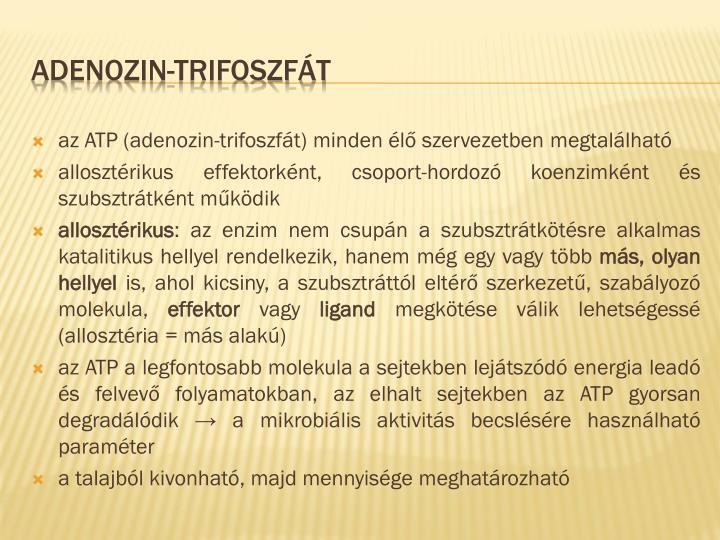 az ATP (adenozin-trifoszfát) minden élő szervezetben megtalálható