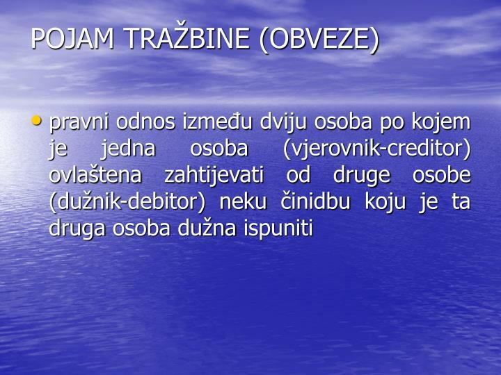 POJAM TRABINE (OBVEZE)