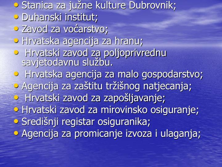 Stanica za june kulture Dubrovnik;