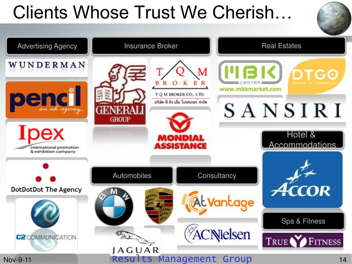 Clients Whose Trust We Cherish…