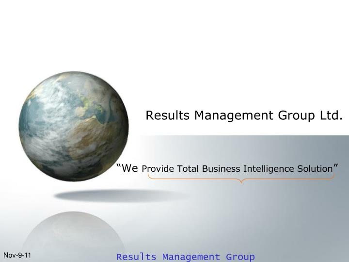 Results management group ltd