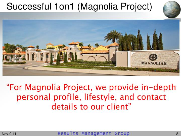 Successful 1on1 (Magnolia Project)