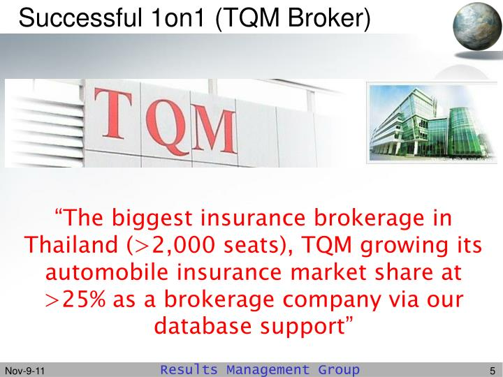 Successful 1on1 (TQM Broker)
