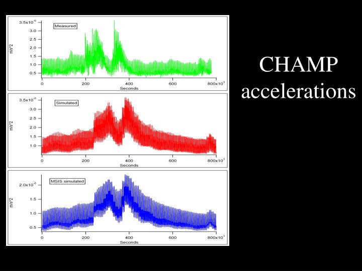 CHAMP accelerations