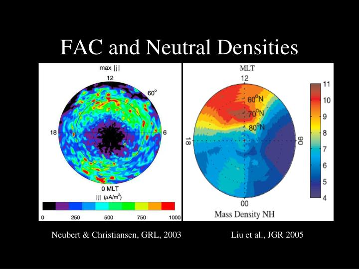 FAC and Neutral Densities