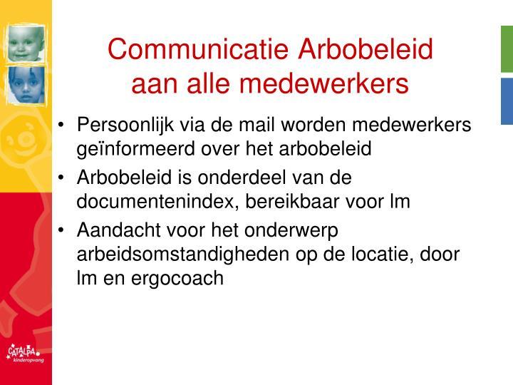 Communicatie Arbobeleid