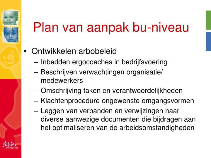 Plan van aanpak bu-niveau